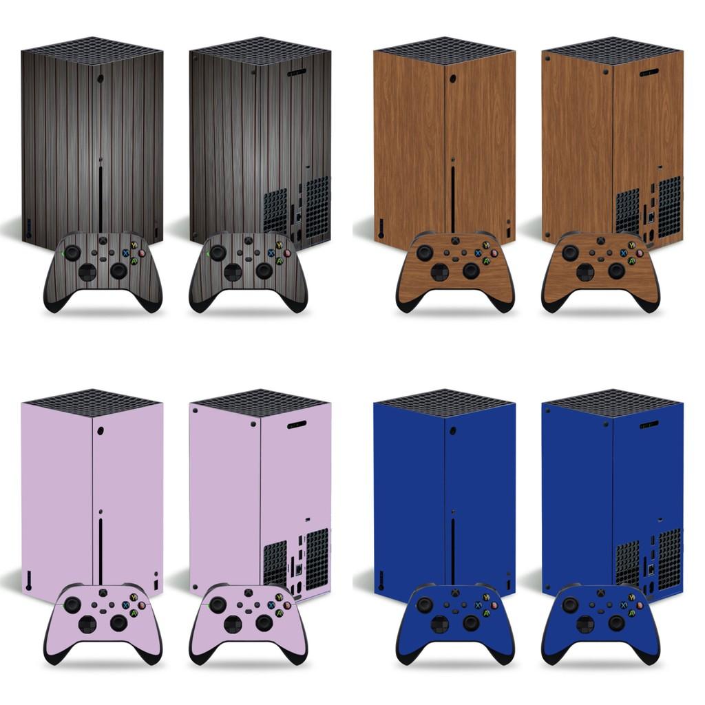 微軟XBOX series X主機貼膜XBOX series X主機貼紙純色木紋貼款式