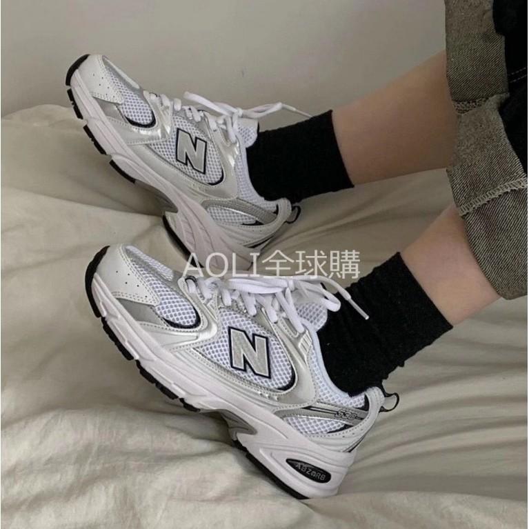 New Balance MR530 白銀 銀色 爆款  MR530 復古老爹鞋 情侶鞋