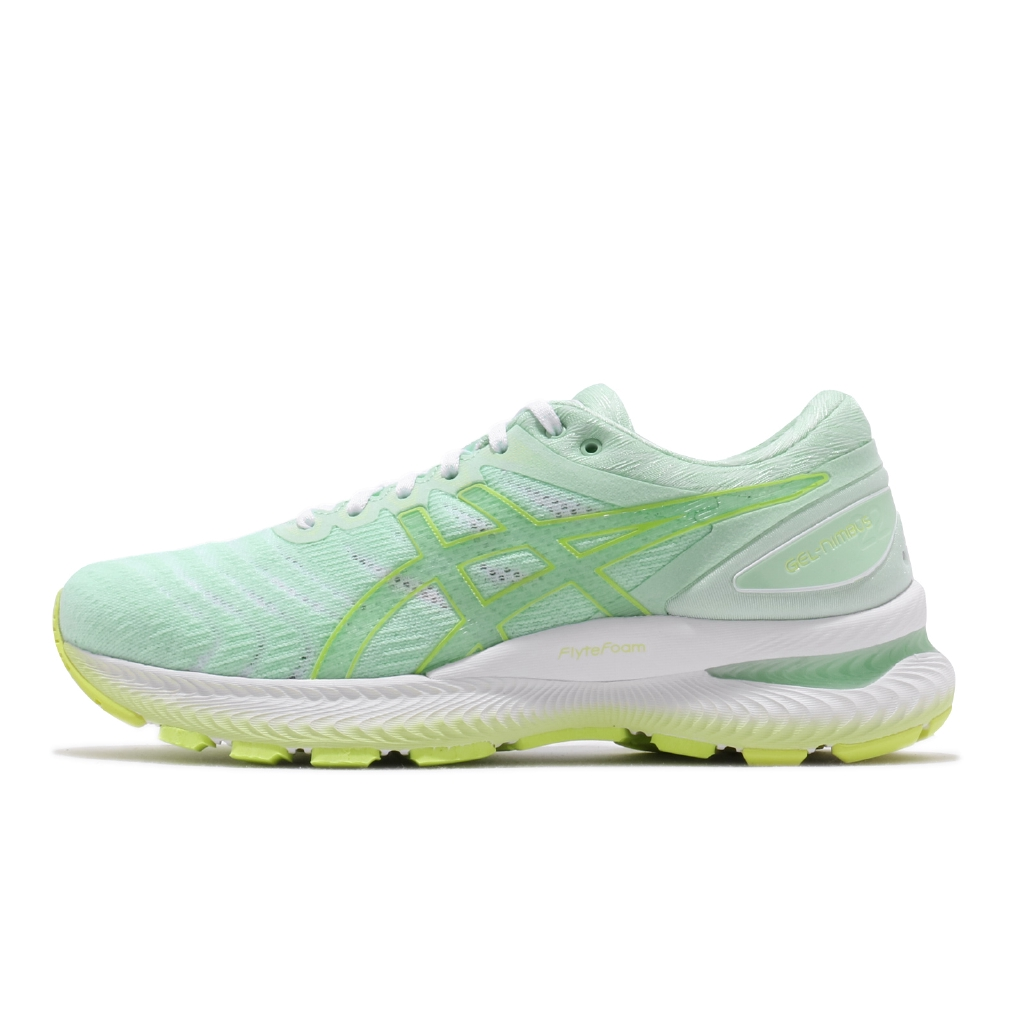 Asics 慢跑鞋 Gel-Nimbus 22 摩登東京 綠 白 女鞋 運動鞋 1012A663300【ACS】