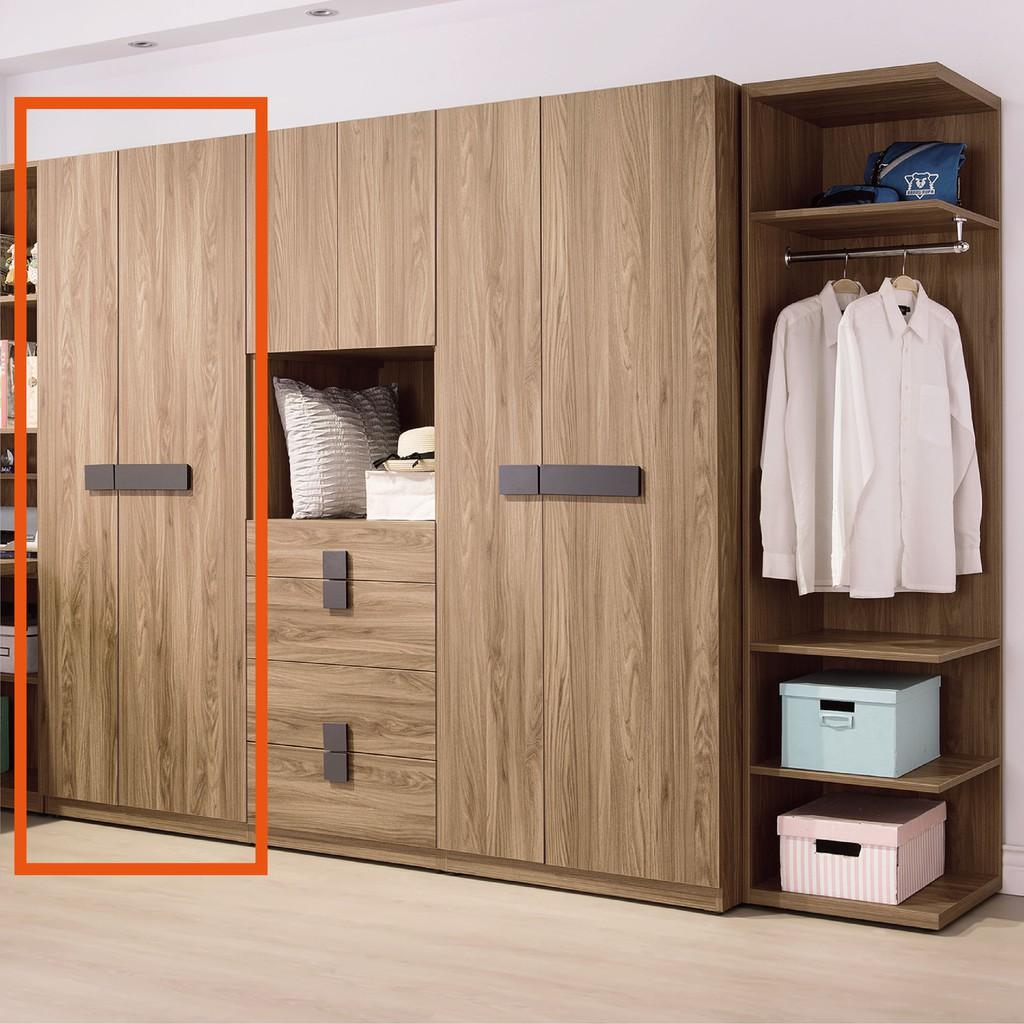 【76cm雙吊衣櫃-B94-03】木心板 推門滑門開門 衣服收納 免組裝【金滿屋】