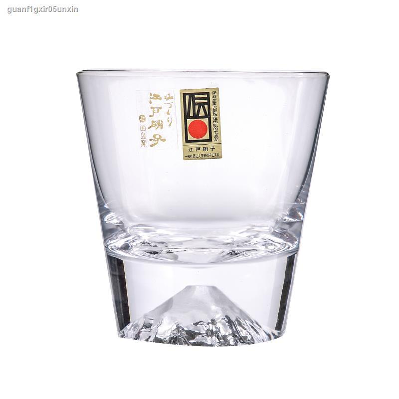 ▬日本進口 江戶硝子富士山下手工創意玻璃杯 威士忌洋酒杯茶水杯