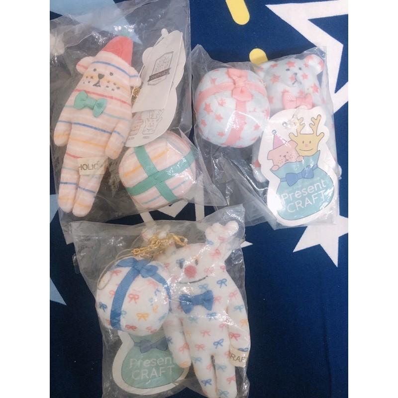 《新貨》日本Craftholic宇宙人限定聖誕節狗狗、麋鹿、熊禮物鑰匙圈吊飾