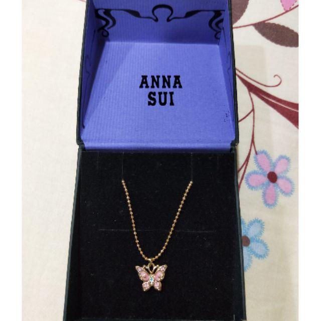 ANNA SUI粉彩蝴蝶項鏈