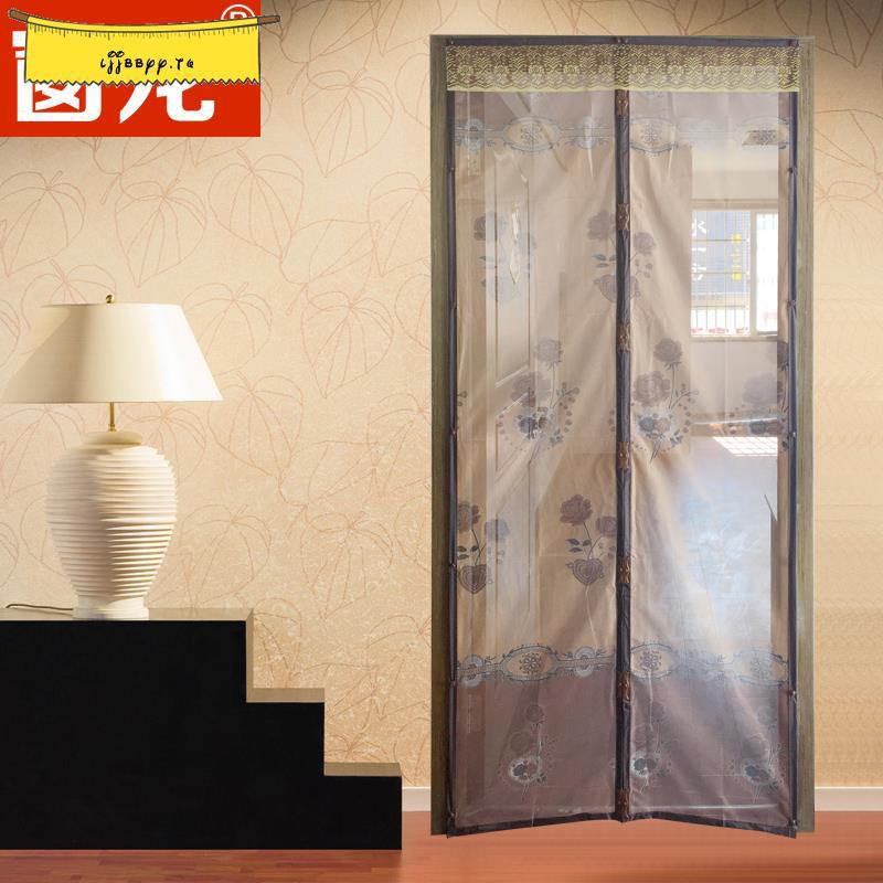 自粘型防蚊紗窗門紗門磁性沙門網防蚊蟲夏季DIY簡易紗窗門簾