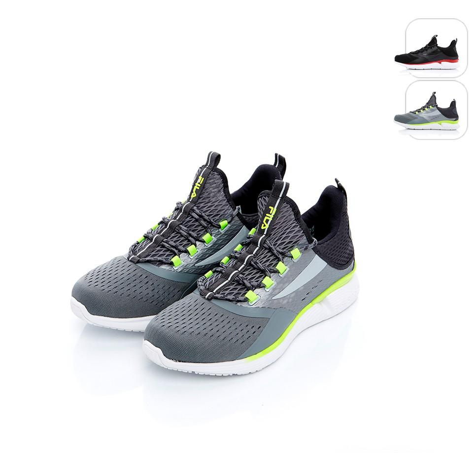 【FILA】男性 專業慢跑鞋R3-灰黃 1-J030T-491
