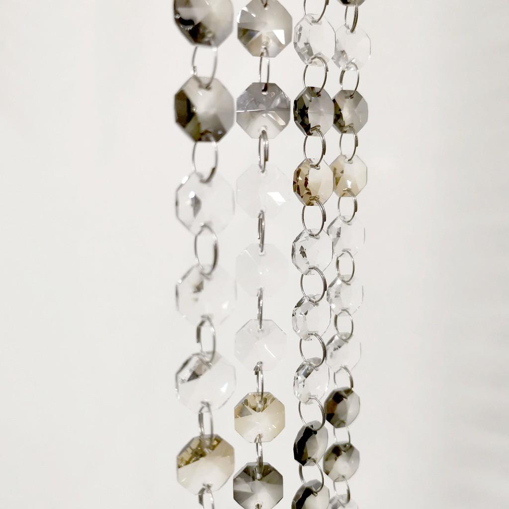 [水晶珠串] [D001]保證閃亮水晶串 可拆組 水晶隔屏配件 水晶燈飾配件 水晶燈串 風水水晶珠簾diy