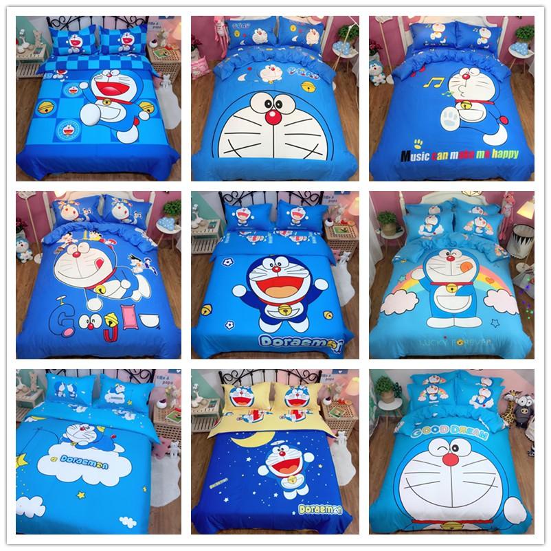 純棉 哆啦A夢 可愛卡通動漫系列 四件套 三件套 床包/單人/雙人床包 /床罩 被單 薄被套