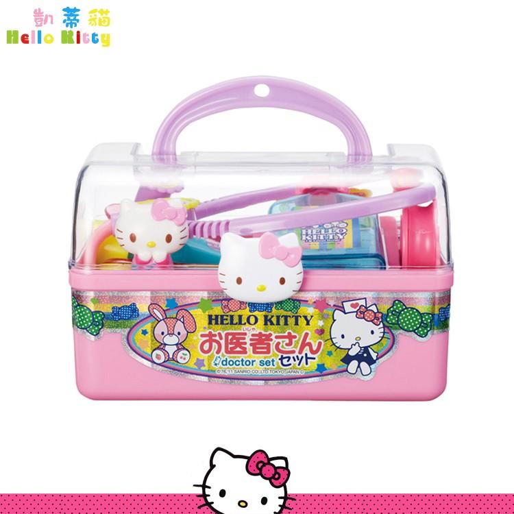三麗鷗 凱蒂貓 Hello Kitty 醫生玩具組 聽筒 扮演遊戲 手提醫藥箱 日本進口正版 131426