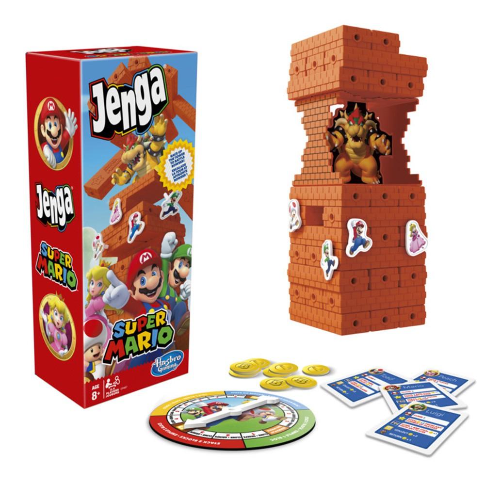 Hasbro 兒童益智玩具 Jenga 超級瑪利歐 層層疊 疊疊樂【酷比樂】
