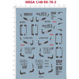 模型現貨攻殼模動隊 國產水貼 MEGA 1/ 48 RX-78-2 元祖高達 水貼