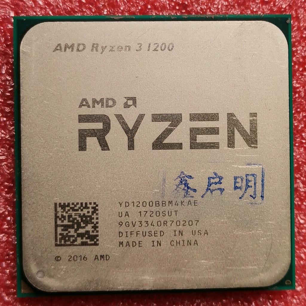 100% 原裝 AMD Ryzen 3 1200 R3 1200 CPU 3.1 GHz 4 Core YD1200BB