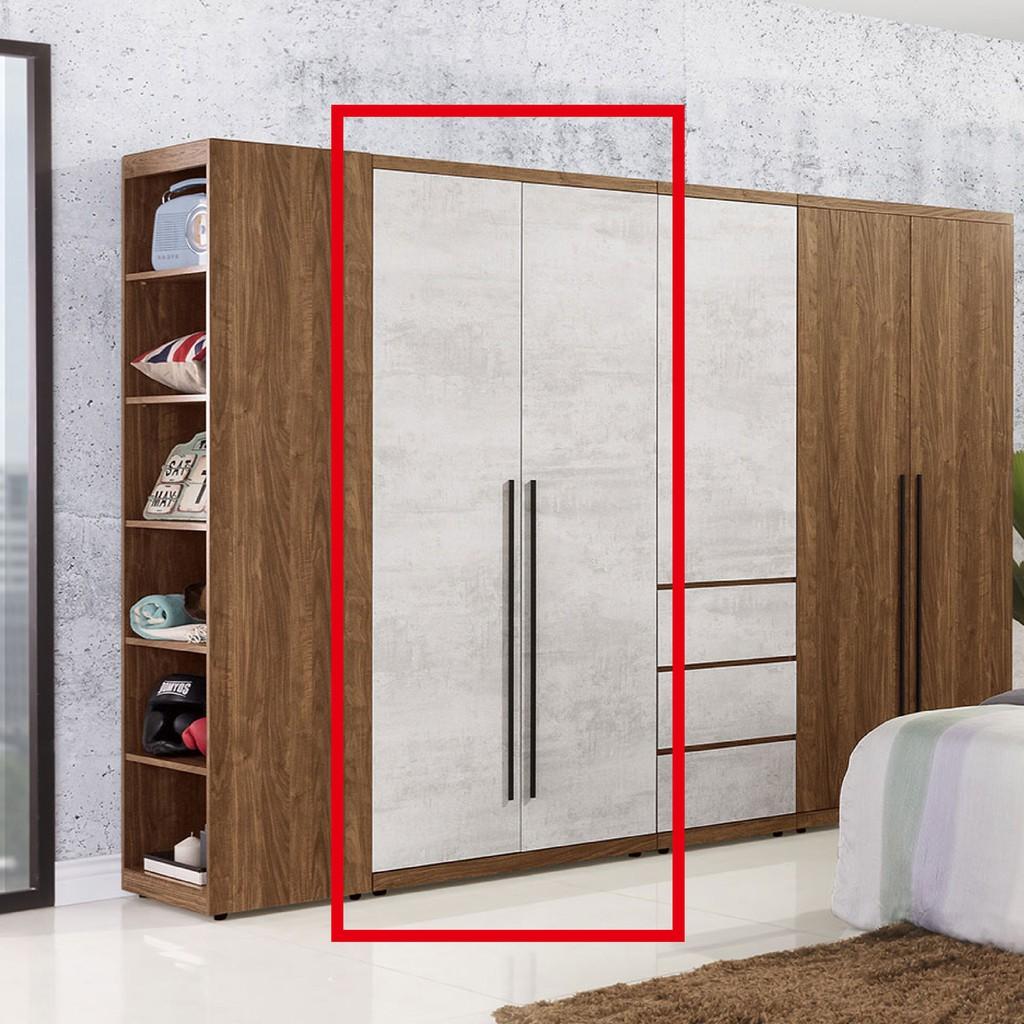 【80cm雙吊衣櫃-A101-4】木心板 推門滑門開門 衣服收納 免組裝 【金滿屋】