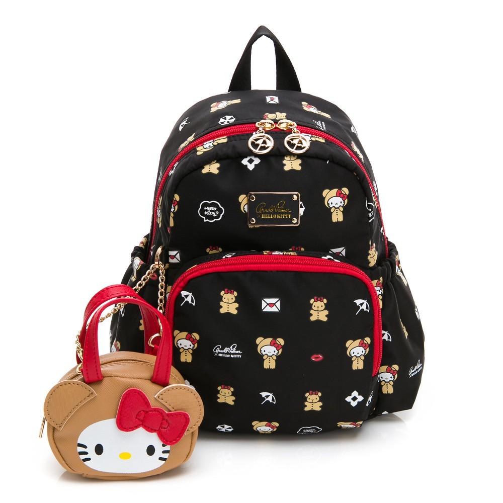 Hello Kitty聯名- 小後背包 DEAR BEAR熊熊系列-黑色