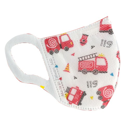永猷幼幼兒童3D醫療用口罩XS 50片幼幼口罩1-3歲適用(消防車、迷你馬)
