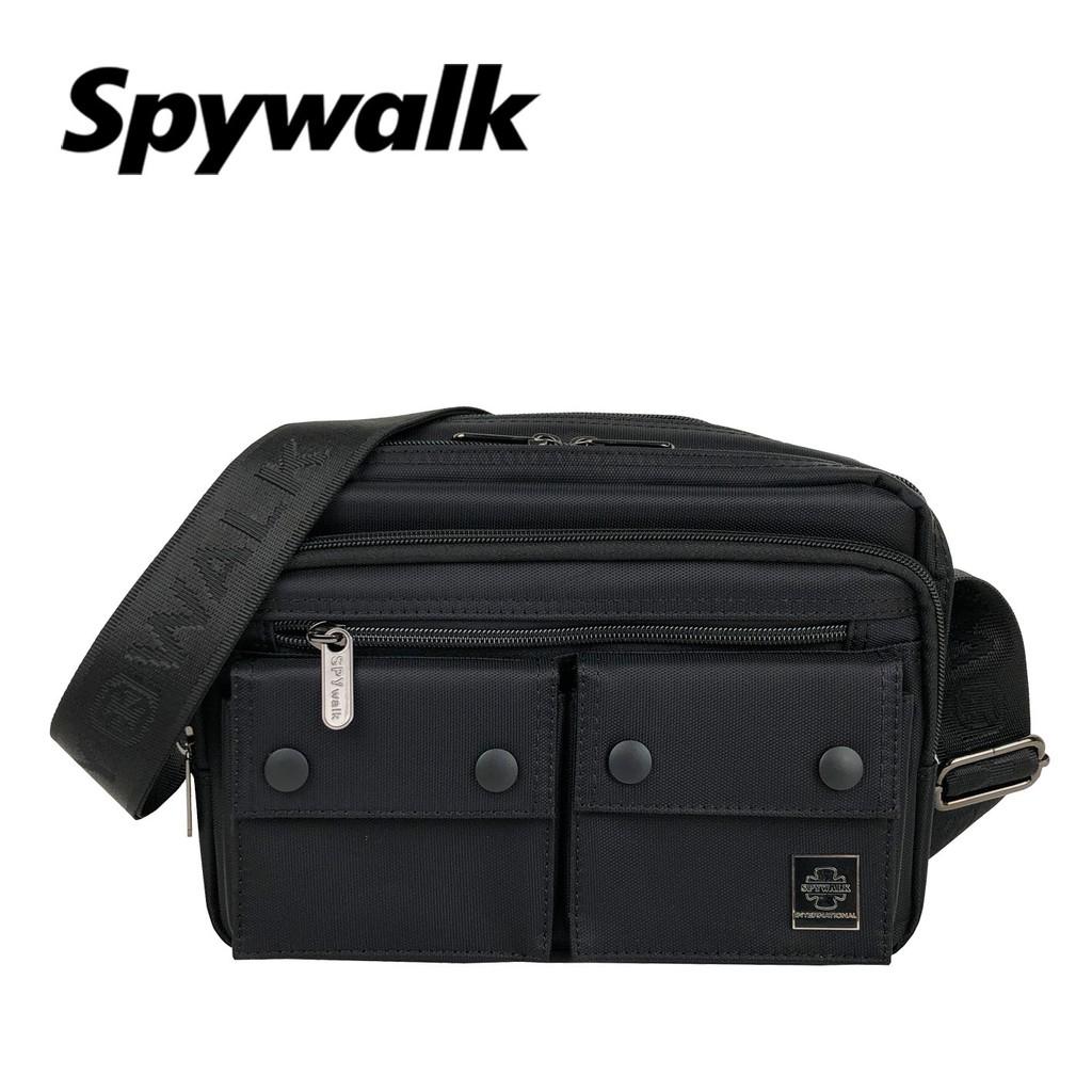 SPYWALK 雙口袋簡約型男側背包 NO:1914