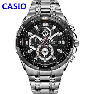 CASIO卡西歐手錶計時賽車男錶三眼防水不鏽鋼錶帶男士鋼帶酷黑劍魚 錶盤石英腕錶 精品男士手錶 新北市