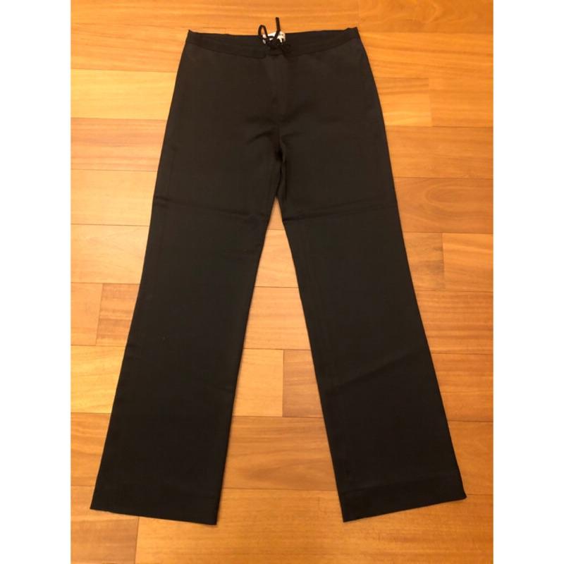 陳季敏緞面直筒寬褲(腰圍25~32吋。綁帶鬆緊褲頭。原價$12800)