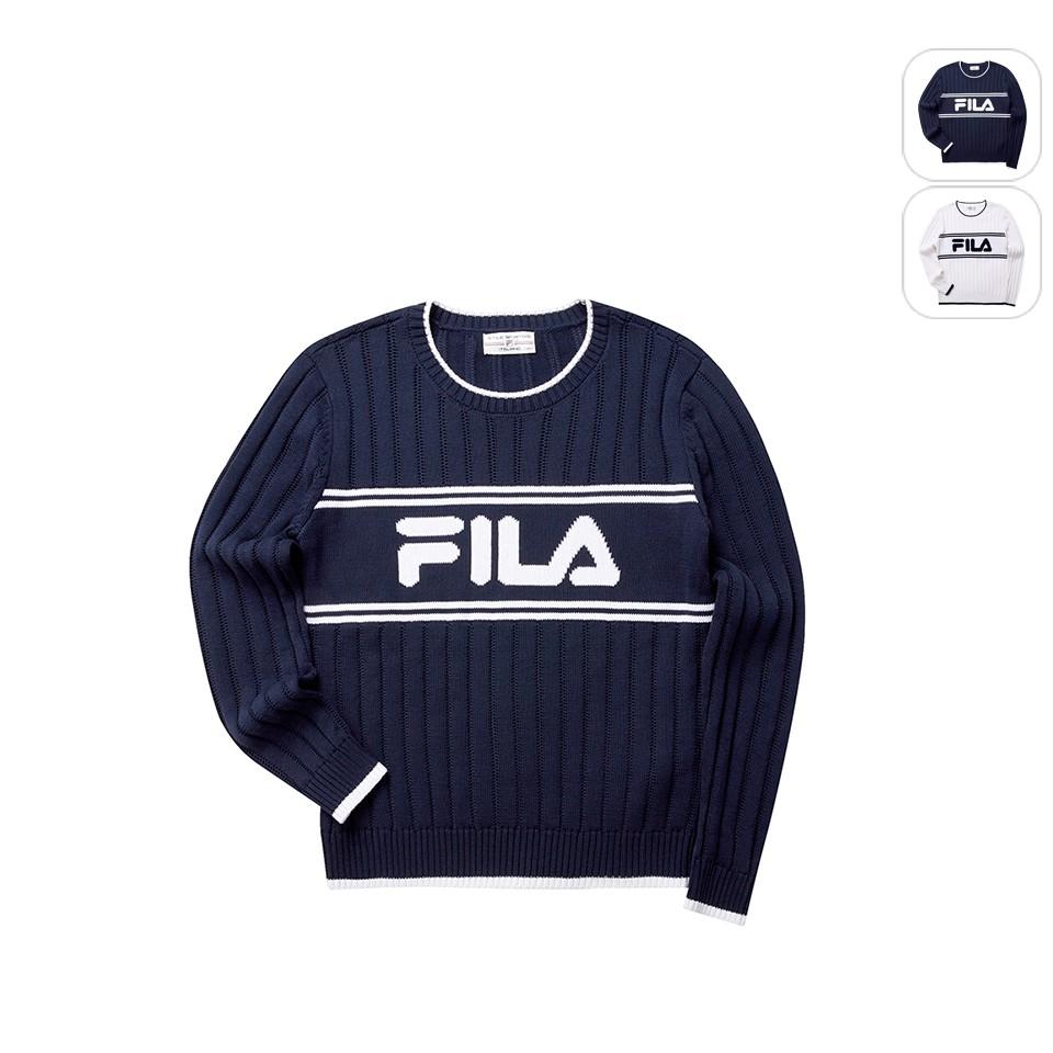 【FILA】女性 毛線衫-丈青 5SWT-5462-NV