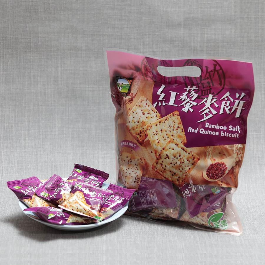 【甲賀之家】竹塩紅藜麥餅 320g/包 (全素)