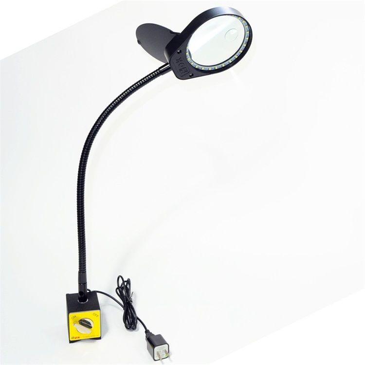PDOK磁性底座放大鏡機床工作燈維修加工磁鐵座子母放大鏡PD-6S