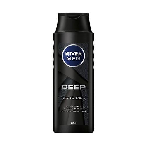 NIVEA 妮維雅 男士深極炭清新控油洗髮精(400ml)【小三美日】D297422