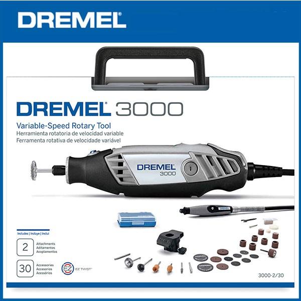 【Dr. Hardware】Dremel 3000 2/30 調速刻磨機組 附30種以上配件一次購足