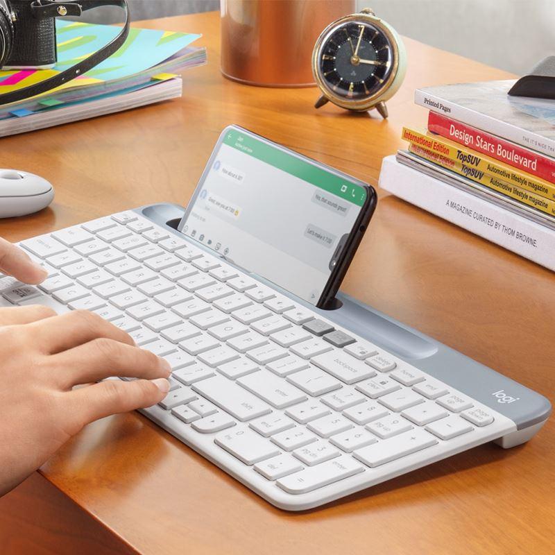 【現貨速發】羅技K580無線藍牙鍵盤薄辦公遊戲手機平板靜音優聯接收器MK470