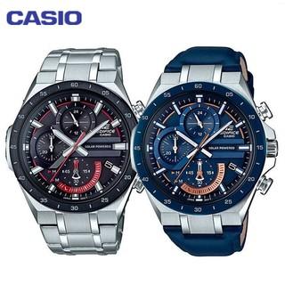 CASIO-卡西歐 男士手錶 EDIFICE 運動太陽能錶 男錶 三眼錶 賽車計時 跑秒跑分 EQS-920系列 桃園市