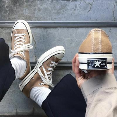 Converse 匡威帆布鞋 1970S 新三星標棕色低幫鞋 奶茶色 經典款男鞋女鞋 休閒板鞋 情侶鞋休閒鞋 運動鞋