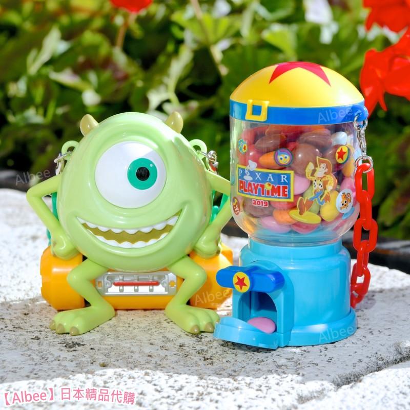 ::日本迪士尼樂園代購::大眼仔 扭蛋機 糖果盒吊飾 不含糖果 玩具總動員
