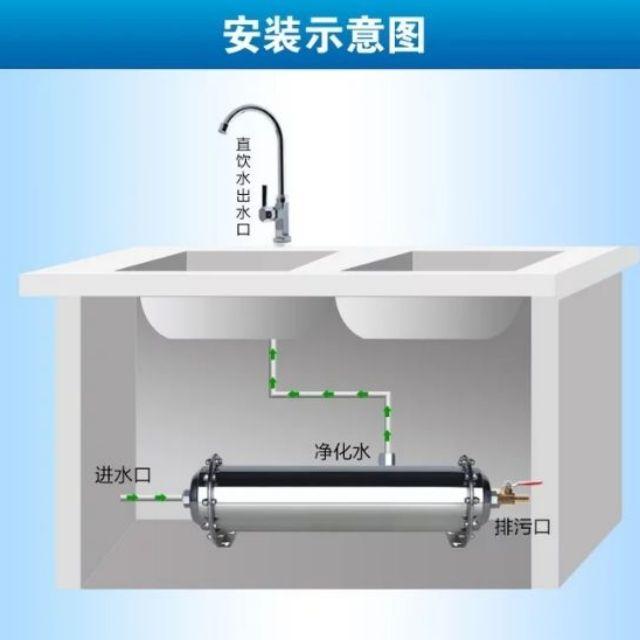 現貨 304不鏽鋼 廚房超濾膜孔徑0.01um 自來水過濾器 淨水機 廚房凈水器 水龍頭淨化器 凈水器 過濾器