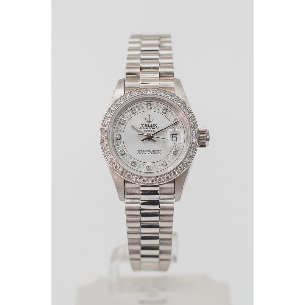 TELUX 鐵力士蠔式尊爵機械鑽錶-女錶
