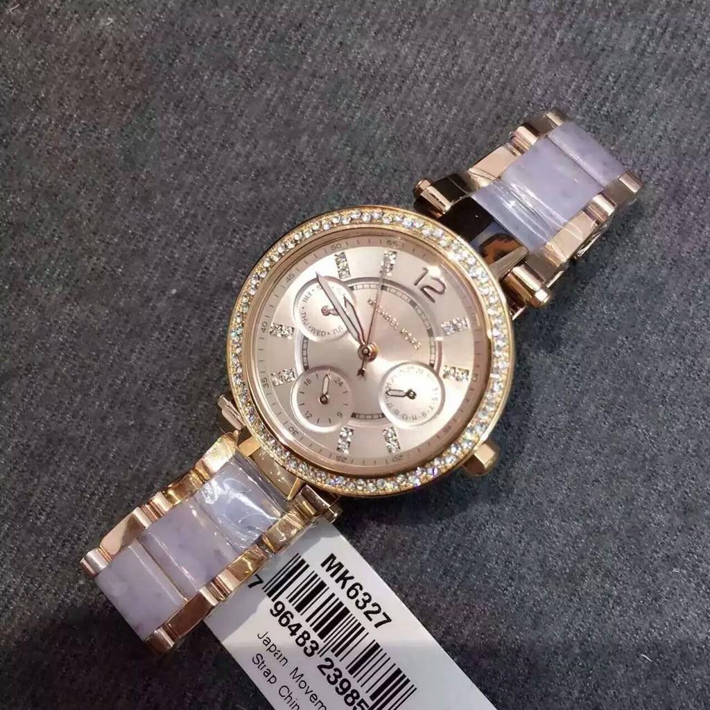 美國正品 MK6327 新款裸粉色女錶 超美氣質小型腕錶 限量款 附購證