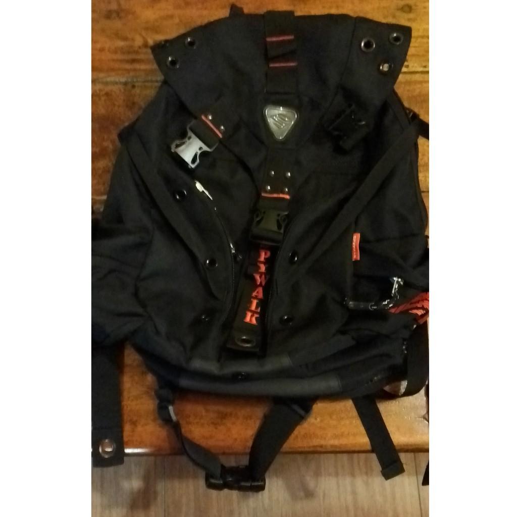 運動背包 超大後背包SPYWALK 紅色LOGO大款三叉扣後背包