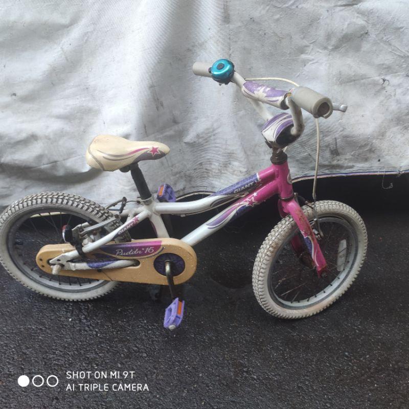 現貨 出清二手車 庫存 Liv ADORE 白粉紅 鋁合金車架 16吋 捷安特 童車 含輔助輪  門市展示 樣品 福利車