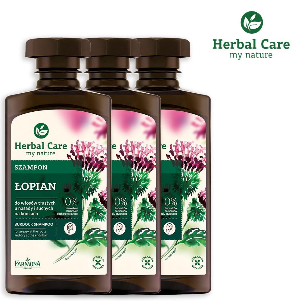 【波蘭Herbal Care】牛蒡養髮植萃調理洗髮露(調節頭皮脂腺適用) 3入組