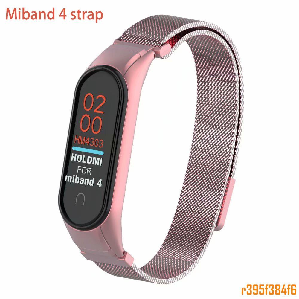 【台灣出貨】磁吸款米蘭尼斯腕帶適用於小米智手環4miband金屬不鏽鋼替換錶帶小米手環米4悠遊卡回環r395f384f6