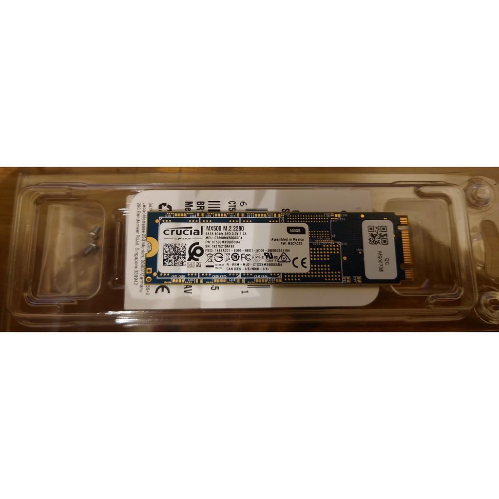 [二手] Micron 美光 MX500 500G M.2 SATA SSD固態硬碟(讀:560M/寫510M/TLC)