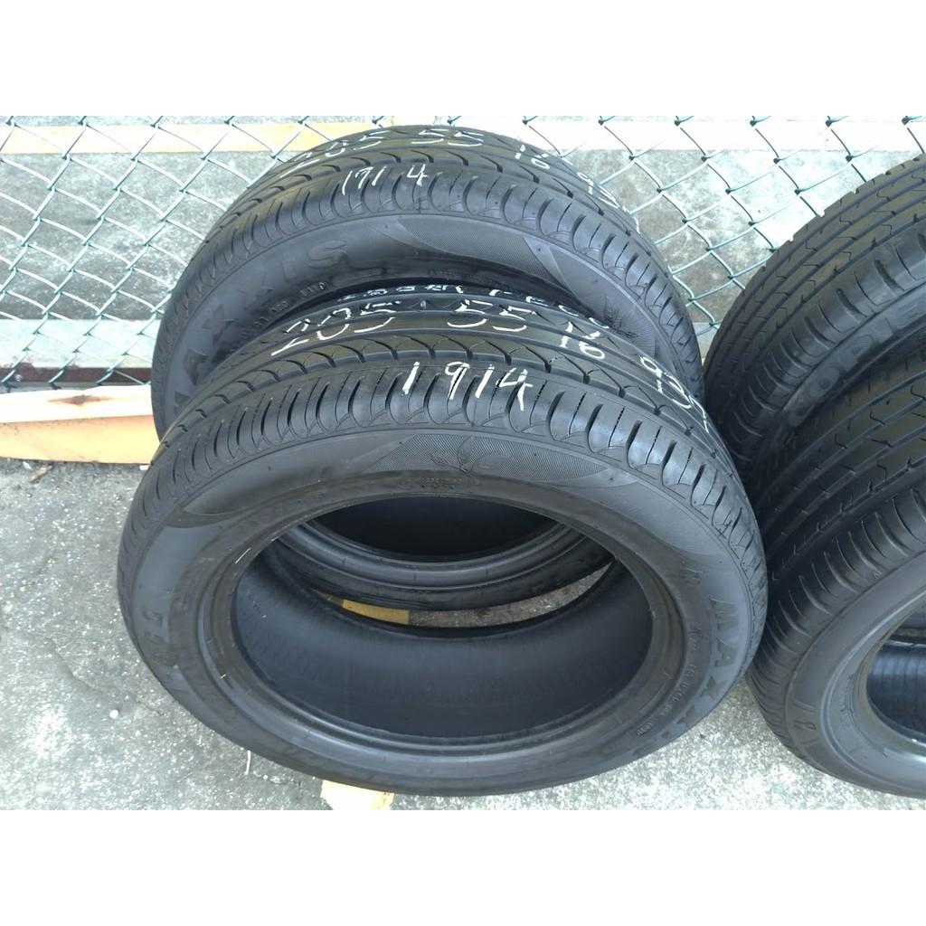 205 55 R 16 瑪吉斯 i-ECO 19年製造 ALTIS WISH 二手 中古 落地 輪 胎 一條1500元
