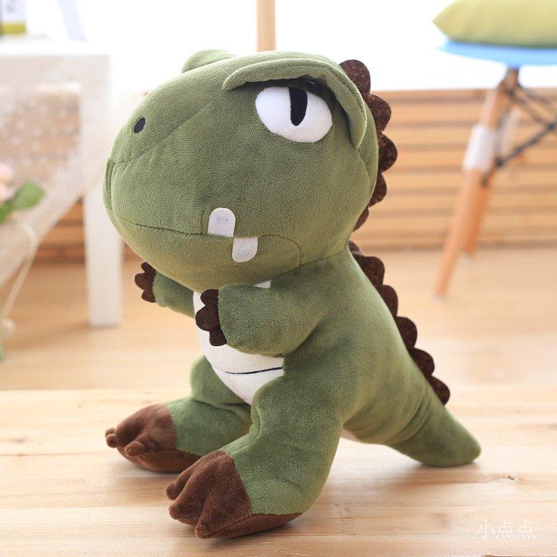CQHw 娃娃玩具禮物公仔毛絨霸王龍生日年跨神龍仿真同款恐龍薛之謙玩偶