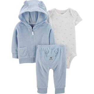 【現貨】【Carter's 美國童裝知名品牌 - 嬰幼兒秋冬夾克套裝3件組 毛絨熊熊 新生兒禮盒 6M】 桃園市