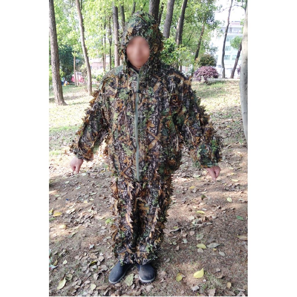 絕地求生3D樹葉迷彩偽裝服隱身衣偽裝衣 吃雞吉利服狩獵服樹葉服