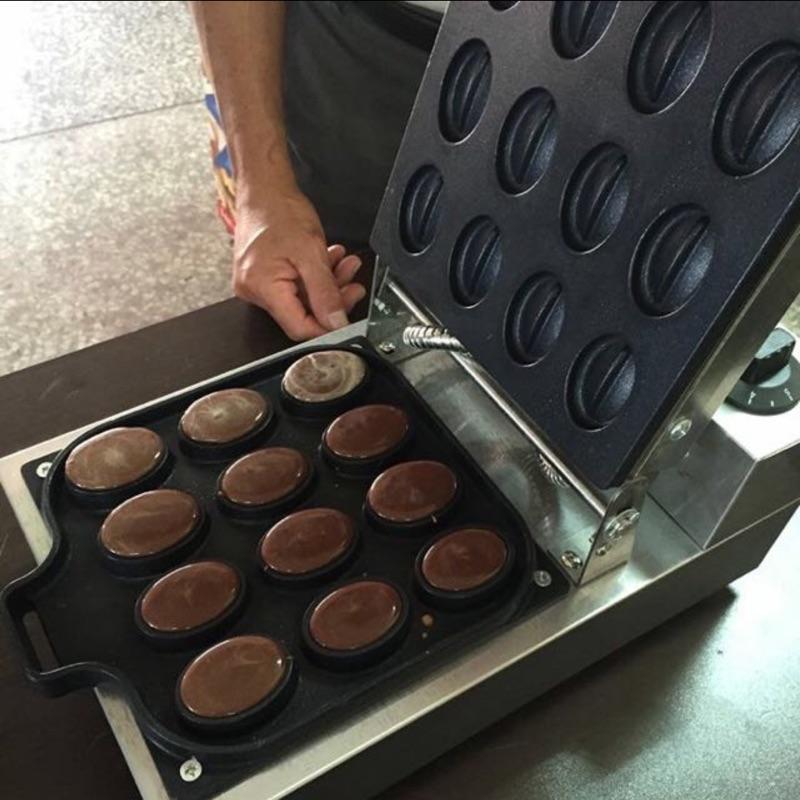 電力式  咖啡豆造型鬆餅機/雞蛋糕機/鬆餅機/卡通雞蛋糕/脆皮紅豆餅創業輔導教學