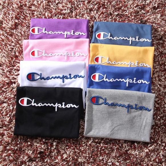 Champion 基礎款 刺繡 素面 短T 男女同款 冠軍 短袖 T恤 TEE 素T 情侶14304