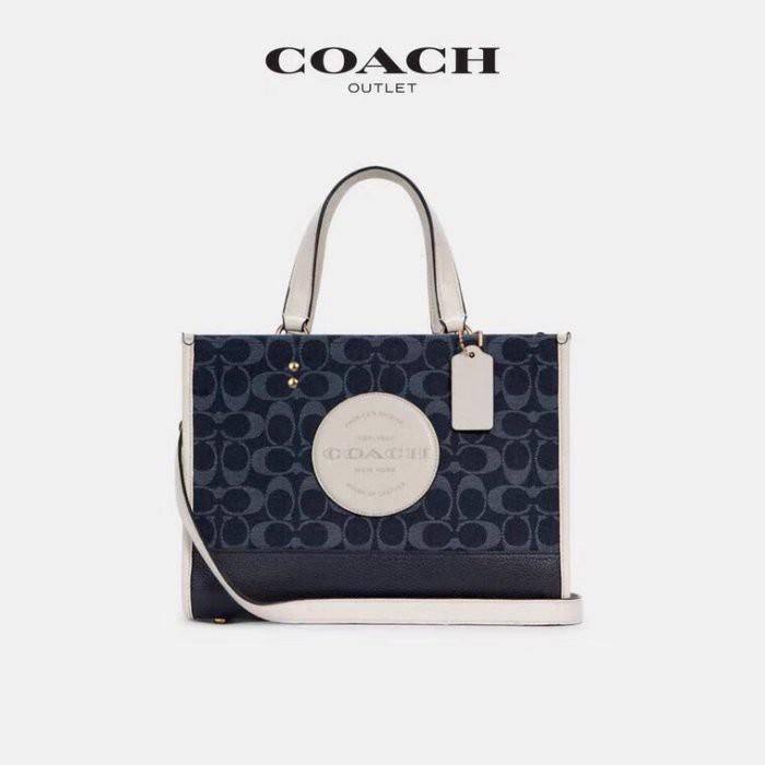 ✨美國代購✨特賣 COACH 2826 丹寧藍牛仔布手提袋 托特包 單肩包 手提包