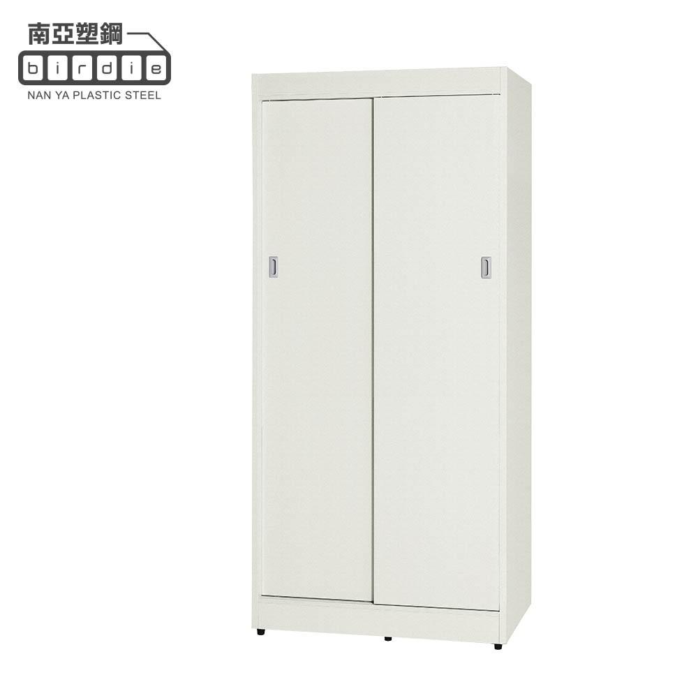 【南亞塑鋼】GR系列-3.1尺雙拉門衣櫃