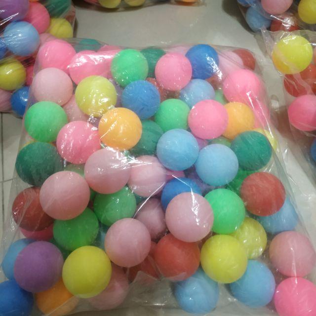 (現貨)娃娃機 章魚燒 乒乓球 磨砂40MM無縫 一包100顆 彩球混搭