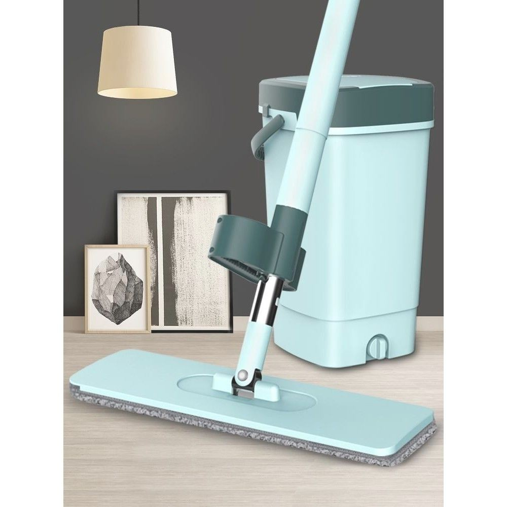 新品下v殺拖把家用一拖凈免洗懶人日本托把帶桶四合一同款懶人魔術拖把。