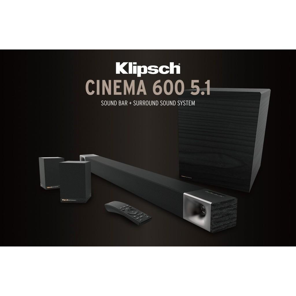 【Klipsch】Cinema 600 SoundBar+Surround 3-5.1聲道劇院組