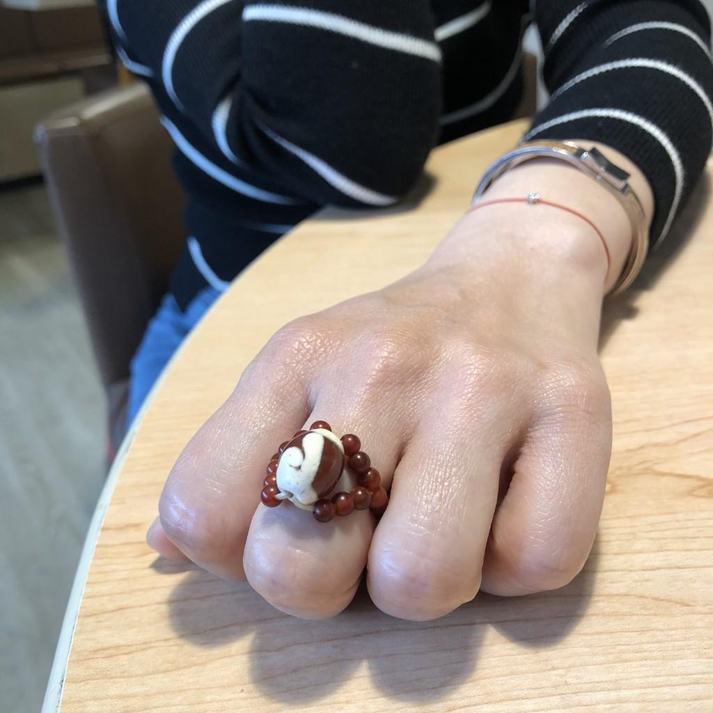 悅康天珠 寶瓶戒指 紅玉髓 結良緣